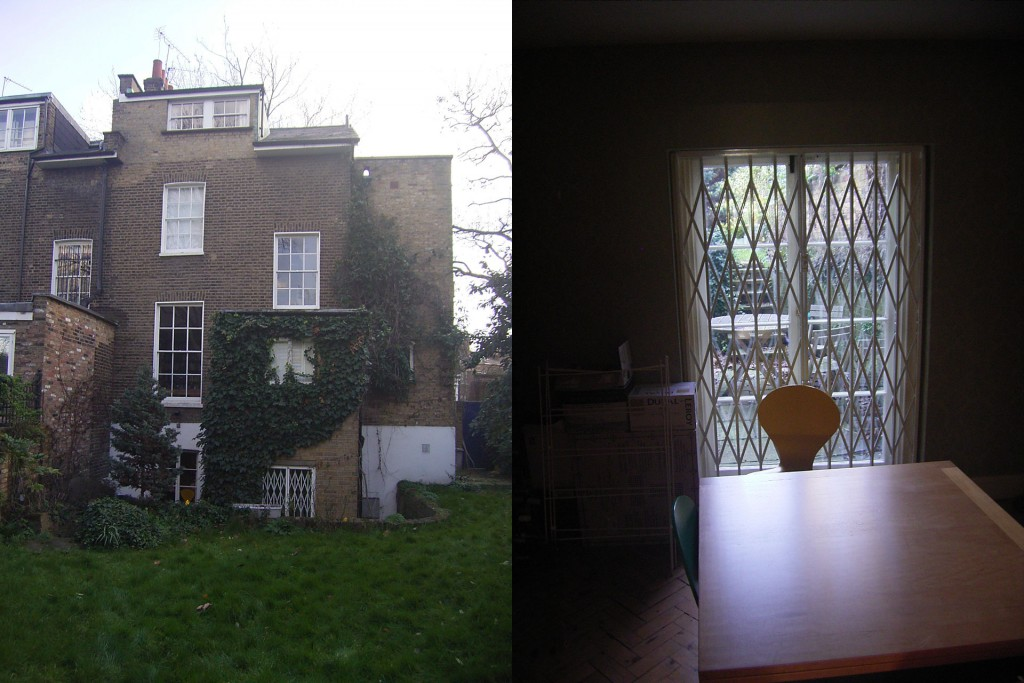 View from garden, before and after