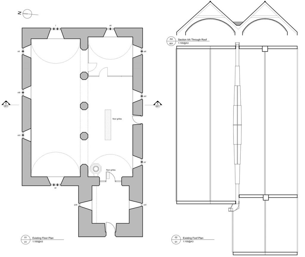 The church plans