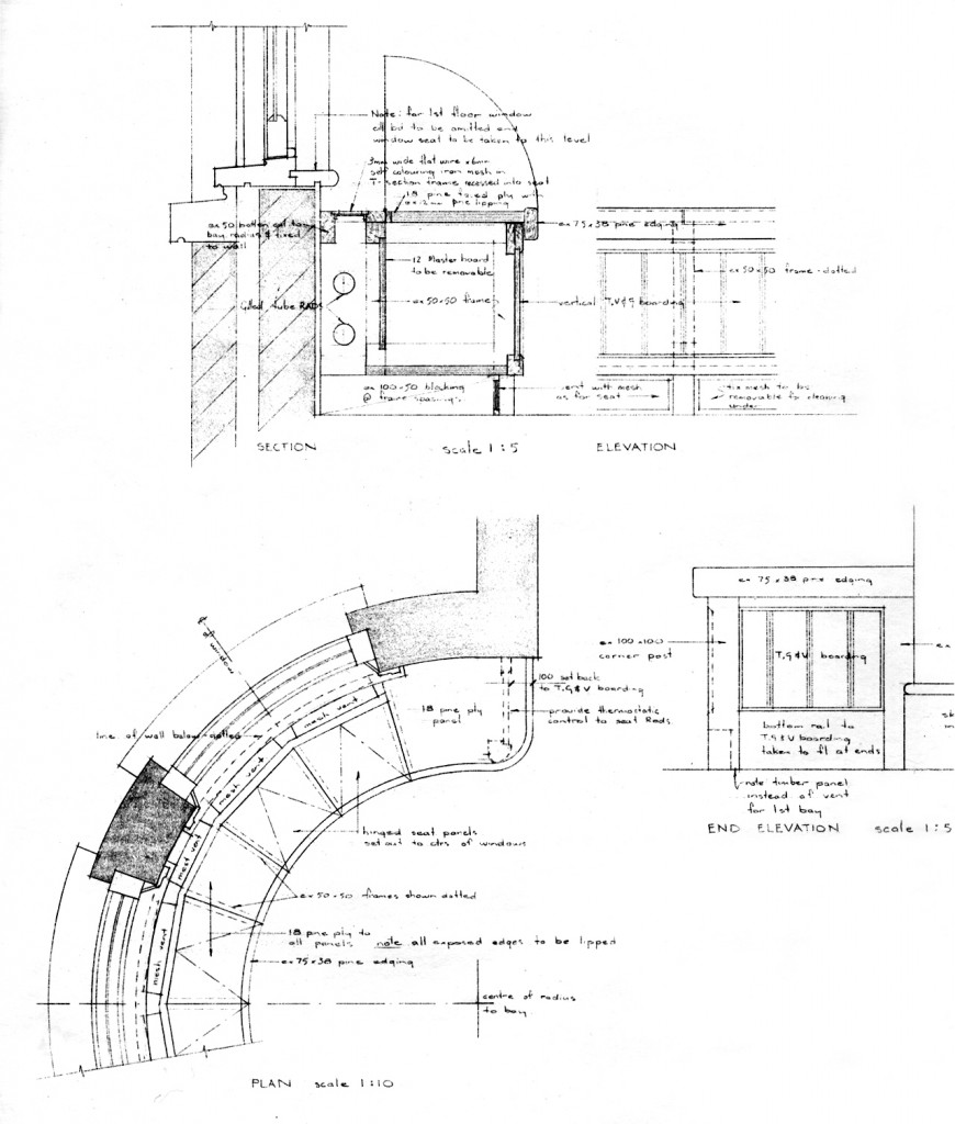 Details for bay window, phase I