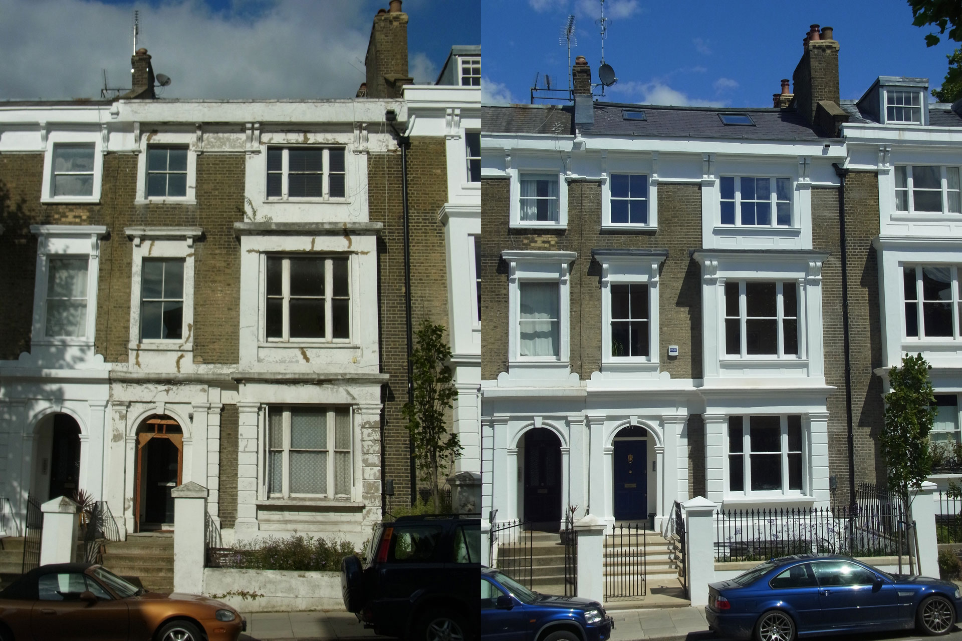 Front Elevation Before And After : Richmond avenue roger mears architects
