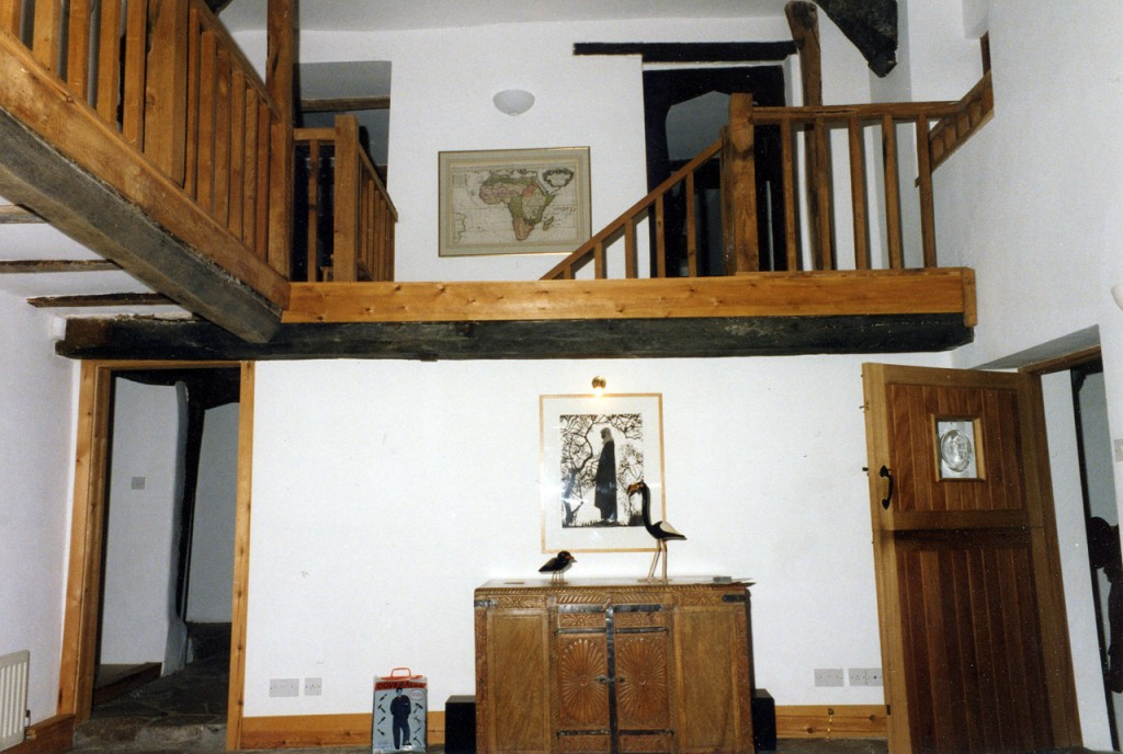 Existing staircase hall with hidden staircase