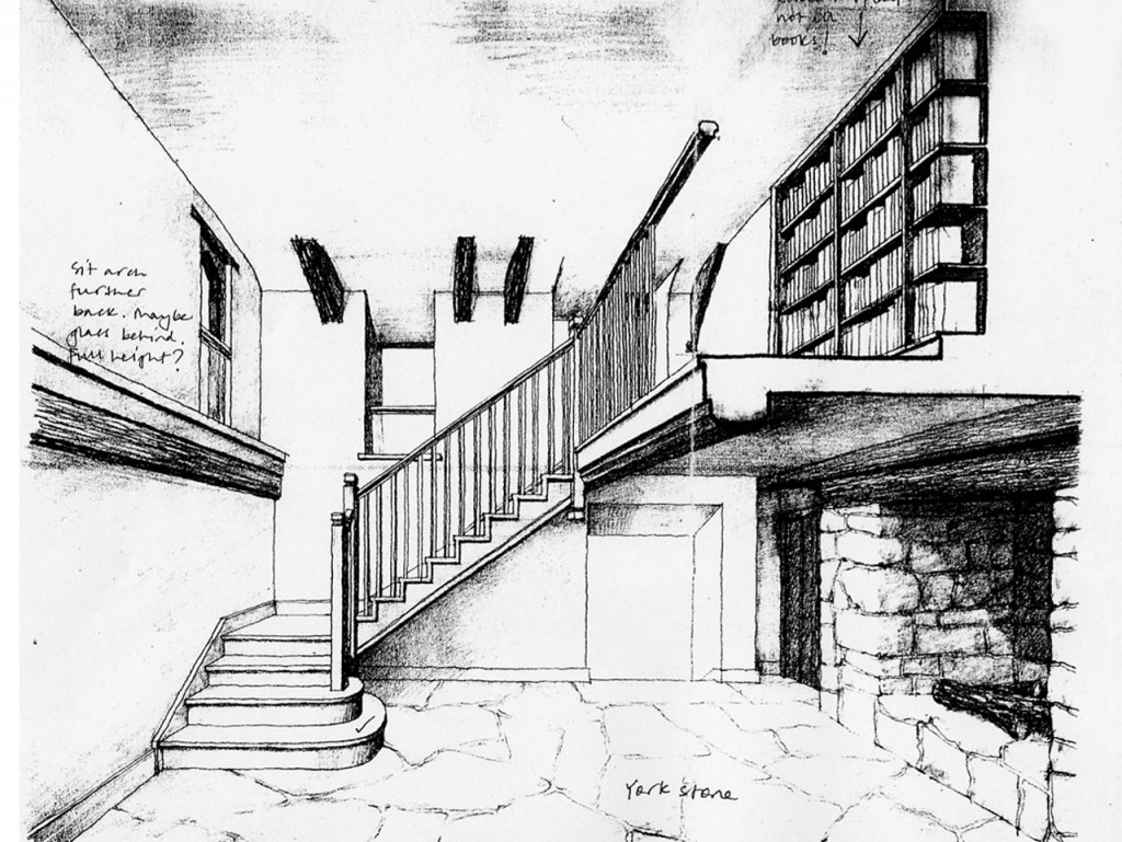 Drawing for the staircase hall