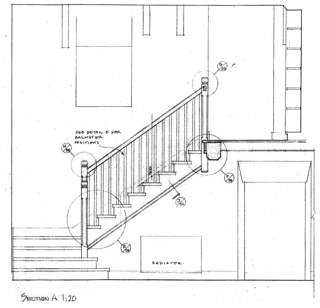 Detail for baluster position