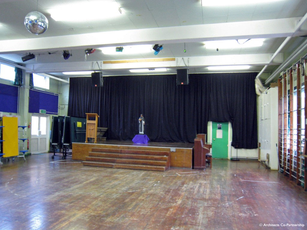 School Hall Before