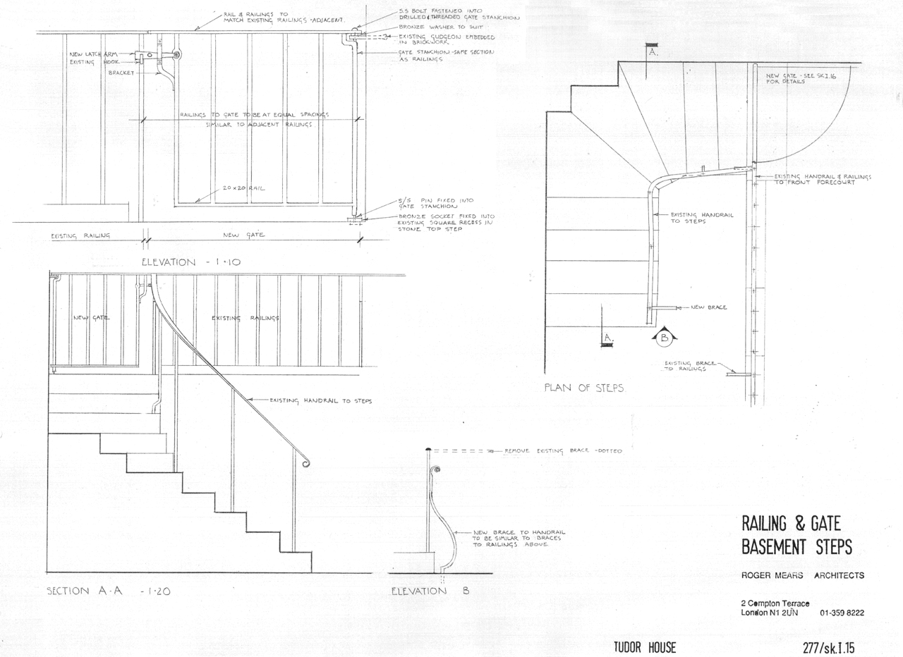 Drawing for Front Area Staircase
