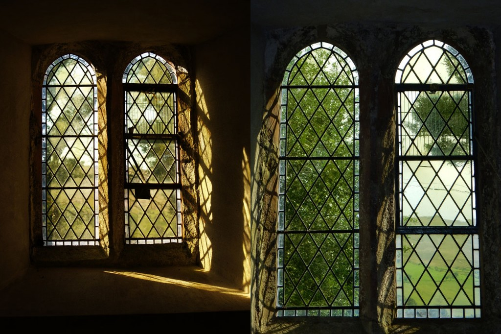 Window, before and after repairs
