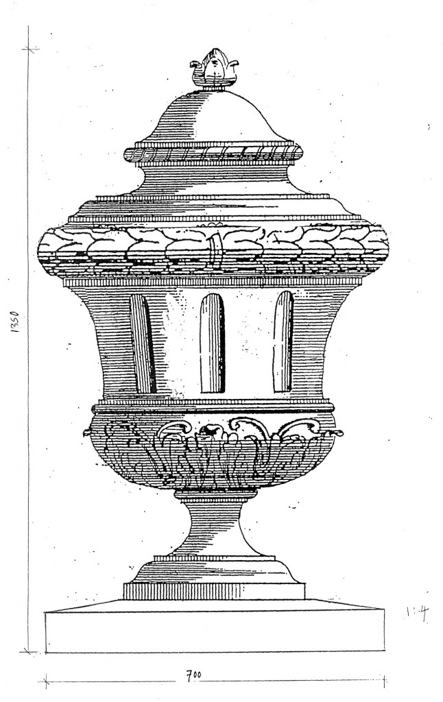 Drawing of urn