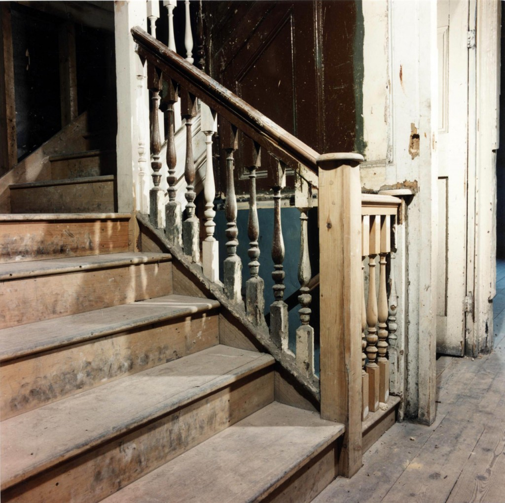 Staircase during repairs