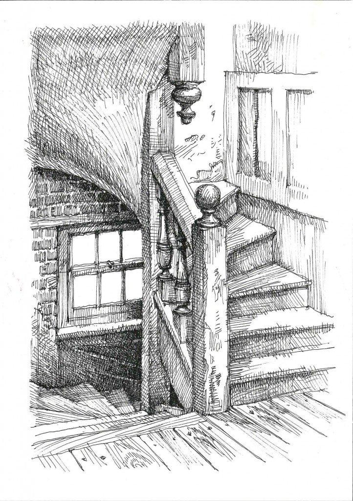 Staircase sketch detail