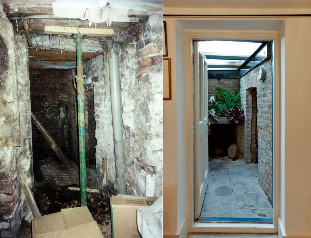 Lightwell, before and after