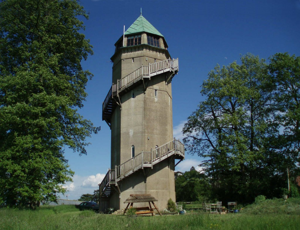 Water tower after repairs