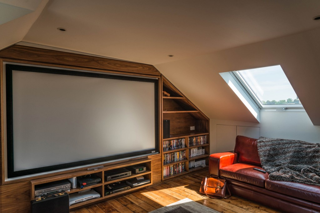 Attic cinema room - after