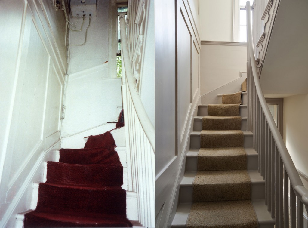 Staircase, before and after