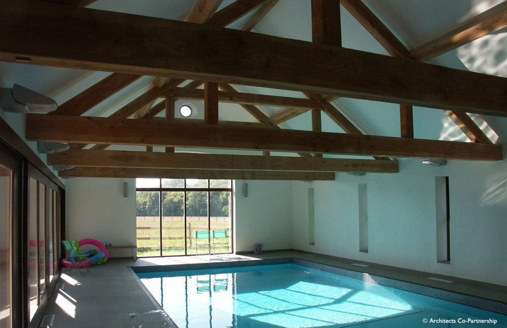 Swimming Pool and trussed roof