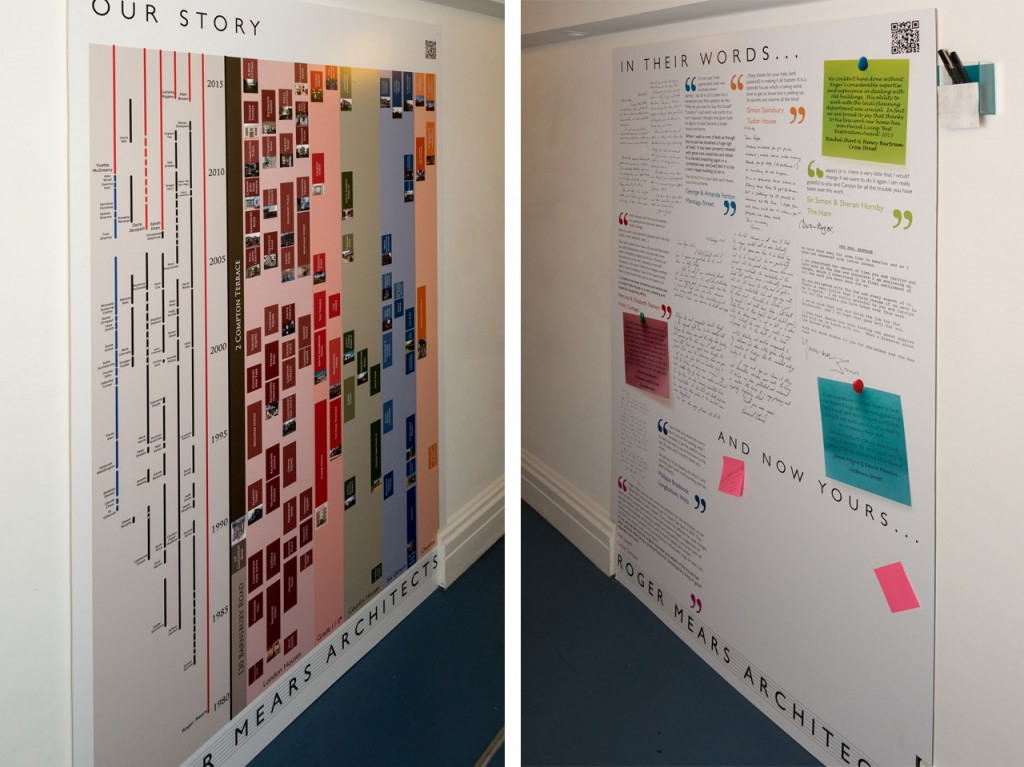 Roger Mears Architects exhibition boards