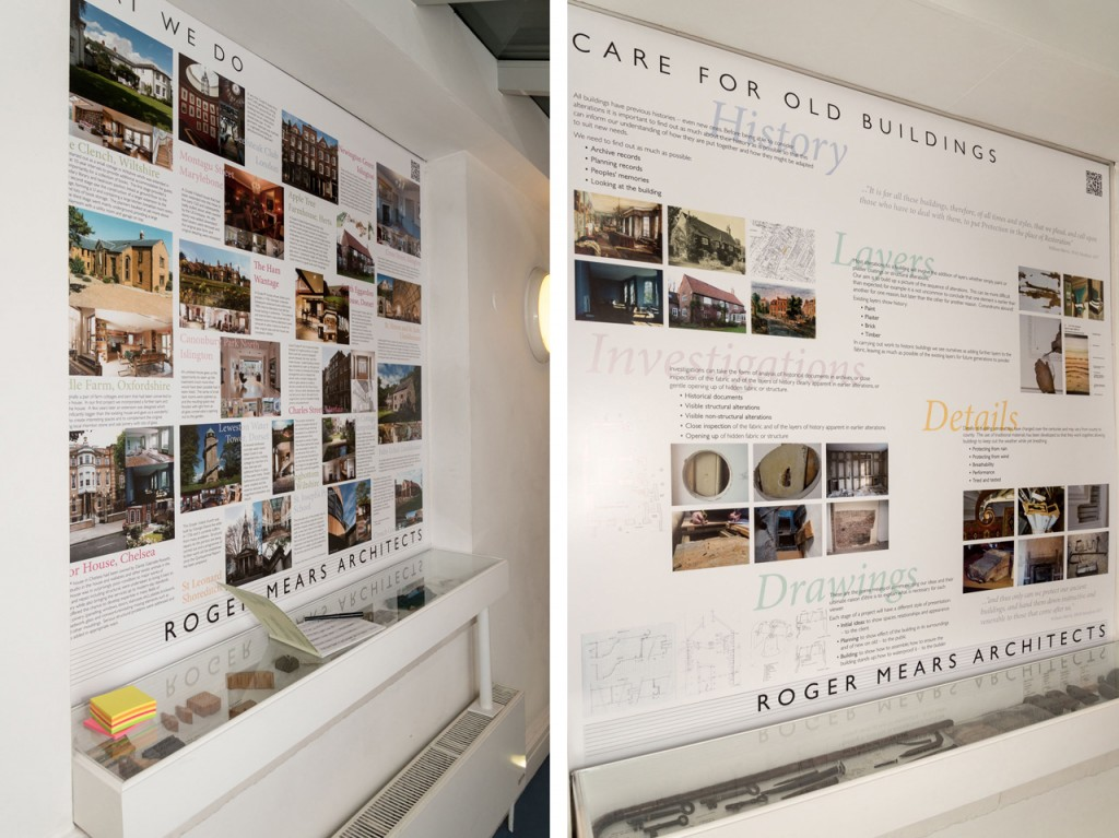 Roger Mears Architects exhibition - Boards and Display cases