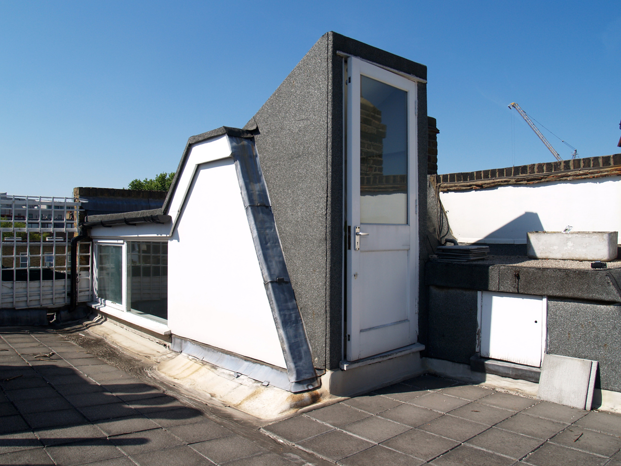 Roof terrace - before