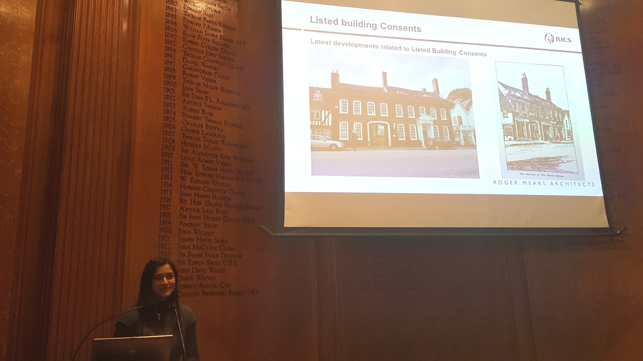 Sarah Khan talking about latest developments in Listed Building Consents