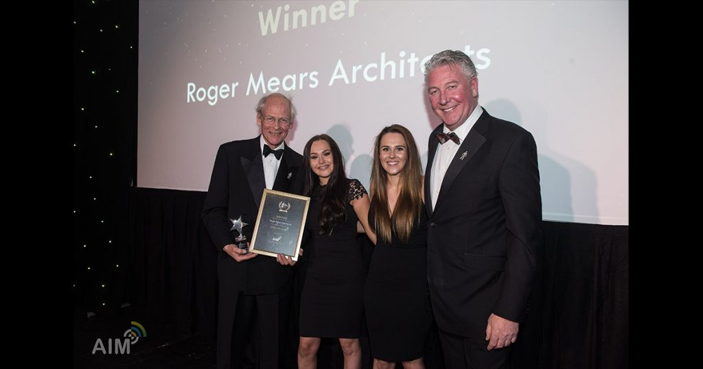 Roger Mears accepting the awards