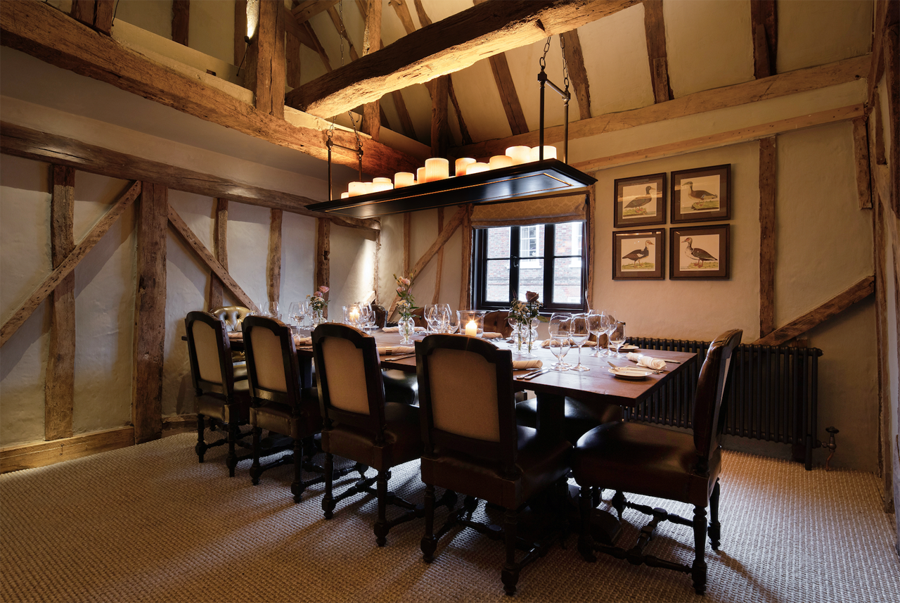 View of the first floor private dining room