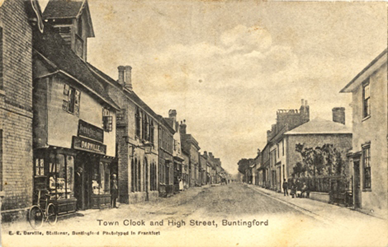 Early photograph of High Street, Buntingford